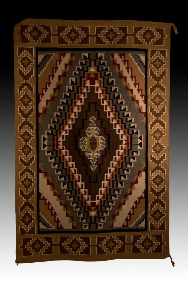 Southwestern Style Hand Woven Wool Rug