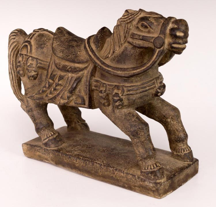 Antique Asian Horse Stone Figure