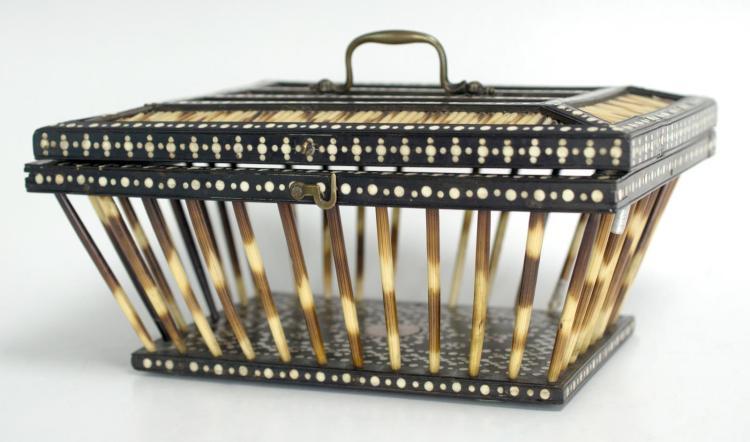 Matara 19th Century Sri Lankan Porcupine Quill Box