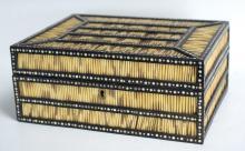 19th Century Sri Lankan Porcupine Quill Spice Box
