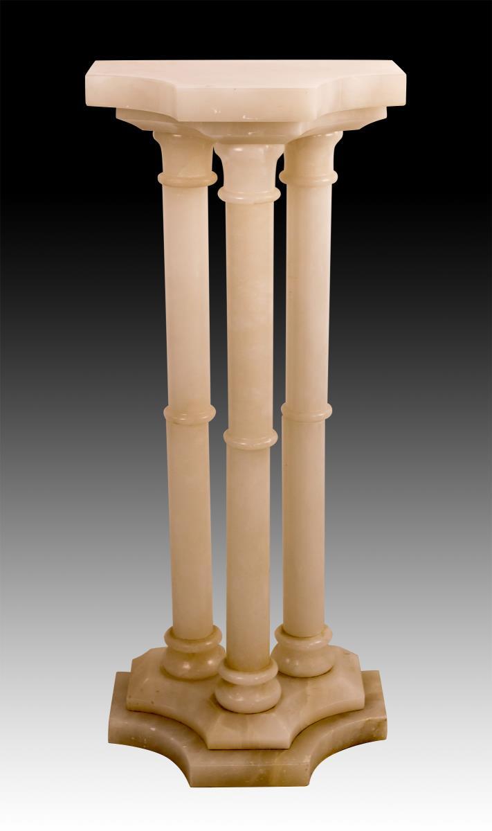 Alabaster Doric Pedestal Stand