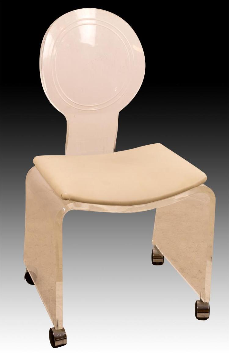 Lucite Vanity Chair
