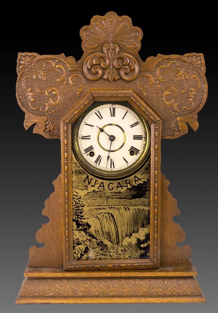 Niagara Falls Oak Kitchen Clock