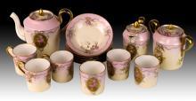 15Pc Limoges Porcelain Tea Set