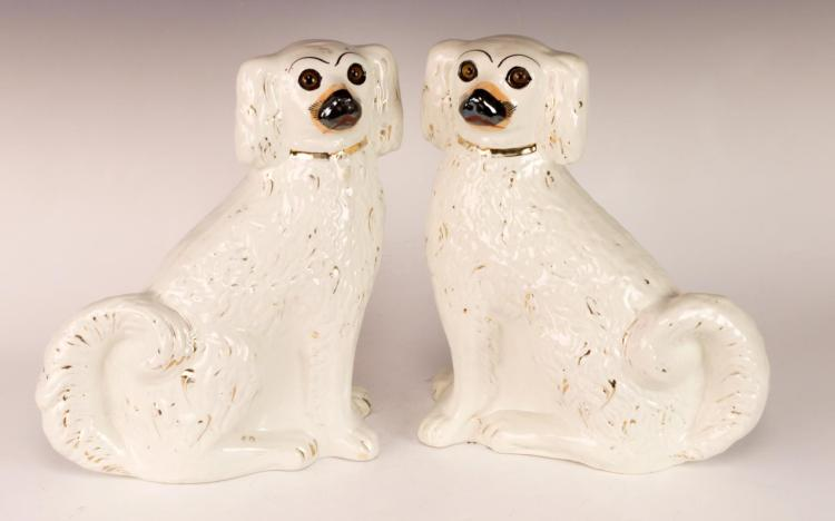 Staffordshire Ceramic Dog Pair