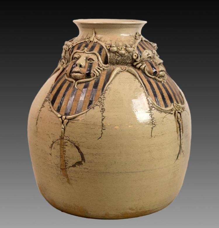Michael Schlyer (20th C.) Pottery Vessel