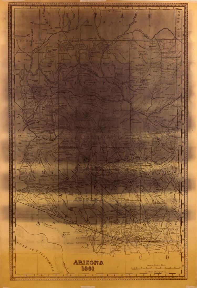 1881 Arizona Map Rand, McNally & Co. Chicago