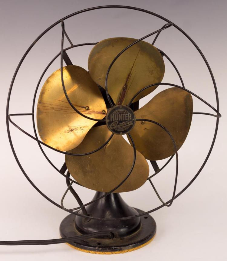 Hunter Century Electric Fan w/ Brass Blades