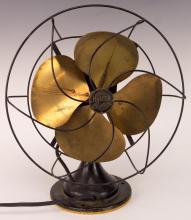 Hunter Century Electric Fan w/ Brass Blades