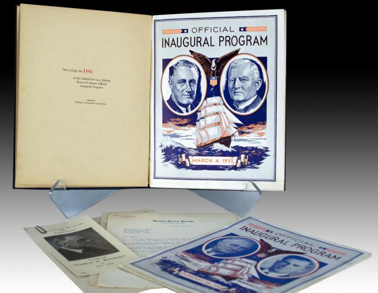 Political Ephemera, Roosevelt Inaugural Program