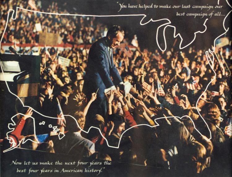 1972 Richard Nixon Autograph, Harry Rosenzweig Sr
