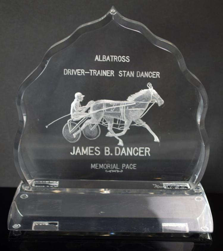 Harness Racing Trophy, Stanley Dancer & Albatross