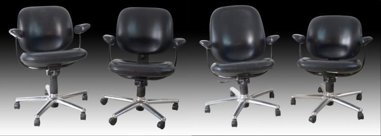 Set of 4 Herman Miller Office Chairs, Model ER110