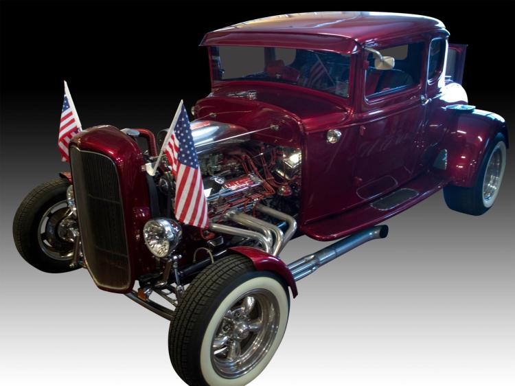 1930 Ford Model A Steel Coupe Hot Rod, 463Hp