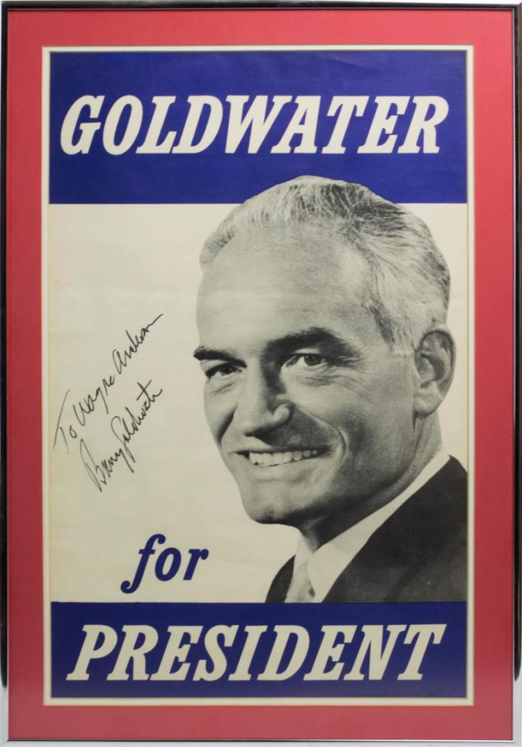 Signed B. Goldwater Presidential Campaign Poster