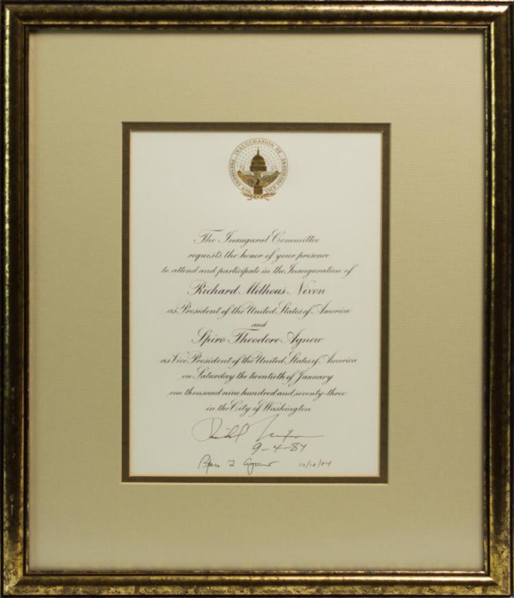 Richard Nixon Presidential Inauguration Invitation