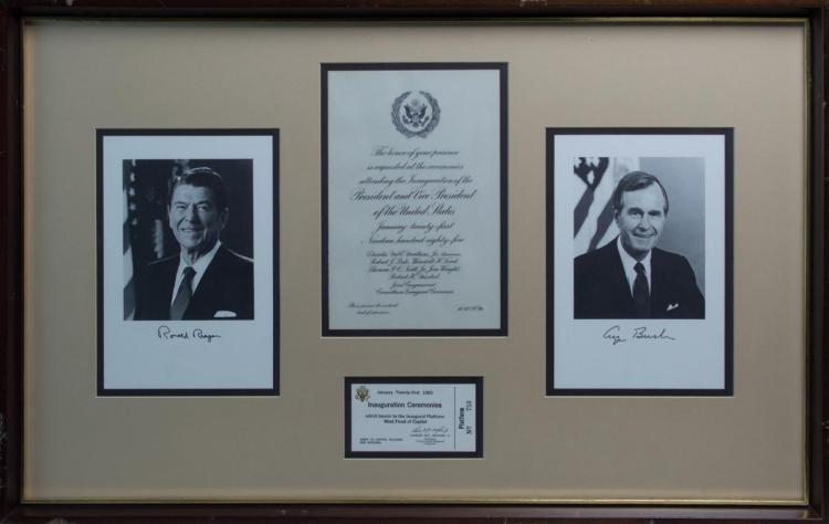 Presidential Inauguration Framed Display, 1985