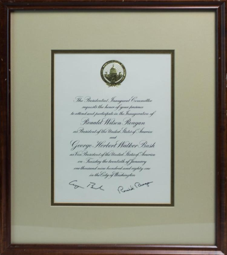 Ronald Reagan Inaugural Invitation 1981, Signed
