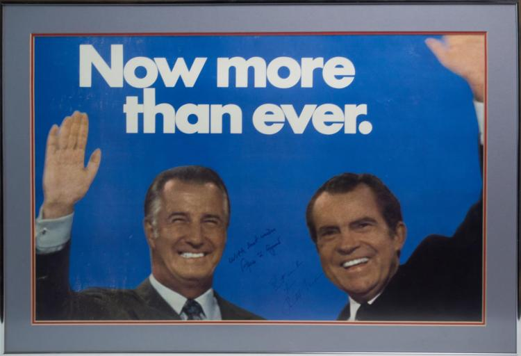 Signed Richard Nixon & Spiro Agnew Campaign Poster