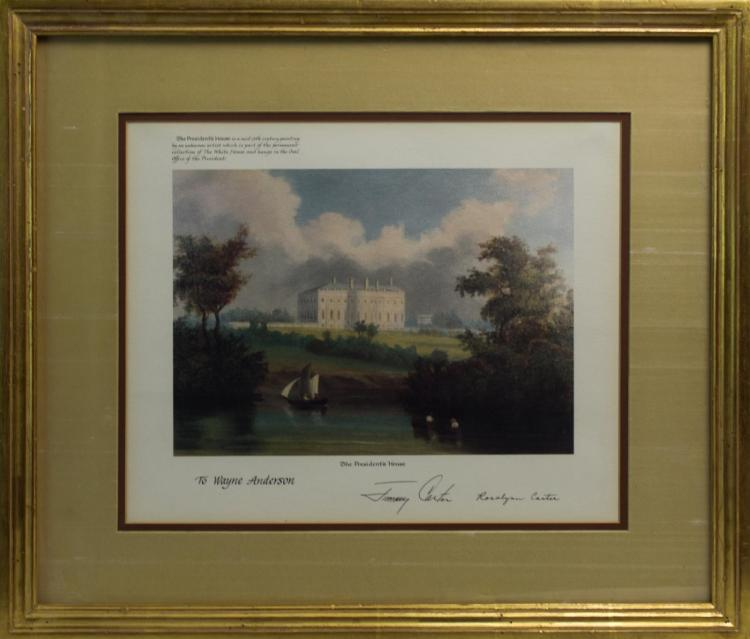 Signed Print by President Carter & First Lady