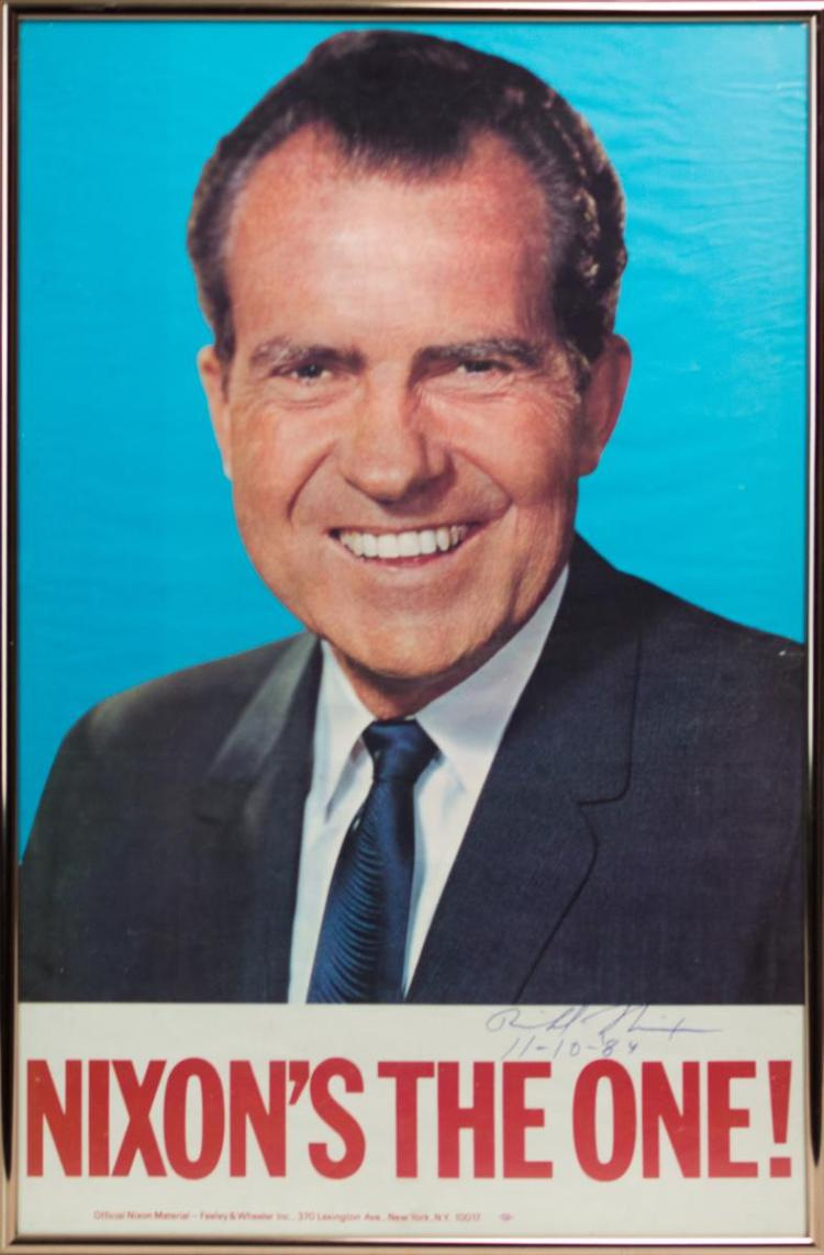 Signed Richard Nixon Campaign Poster