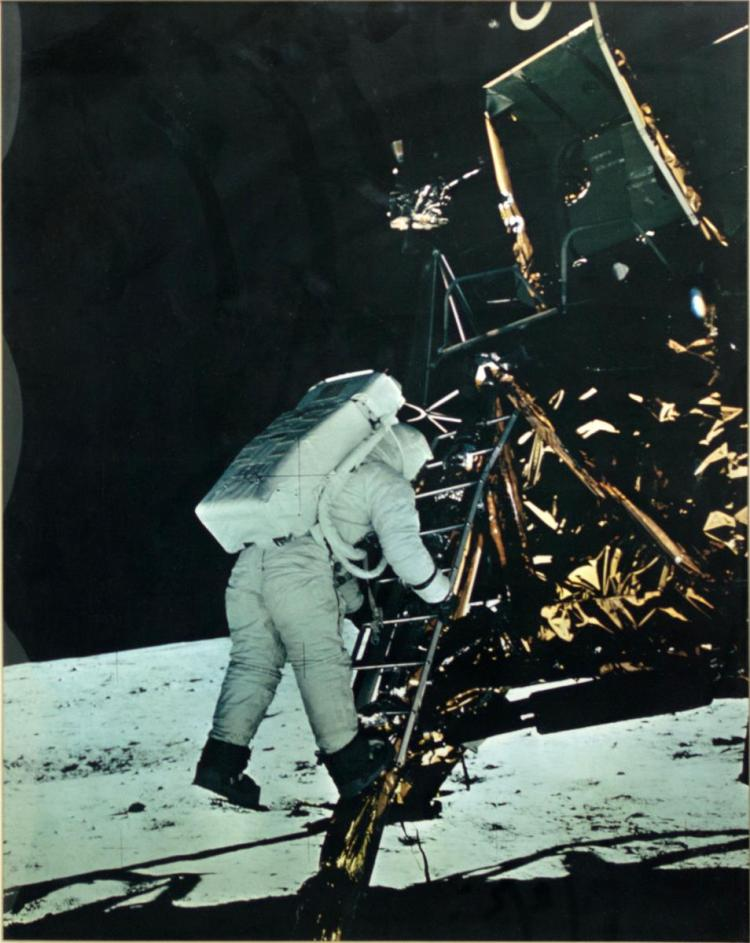 Moon Landing Photo Signed by Neil Armstrong