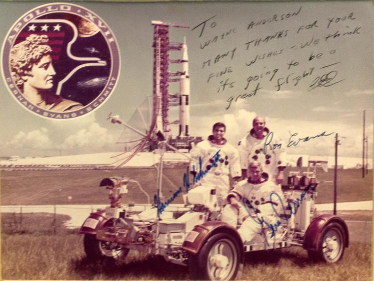 Signed Photo of the Apollo 17 Crew Members