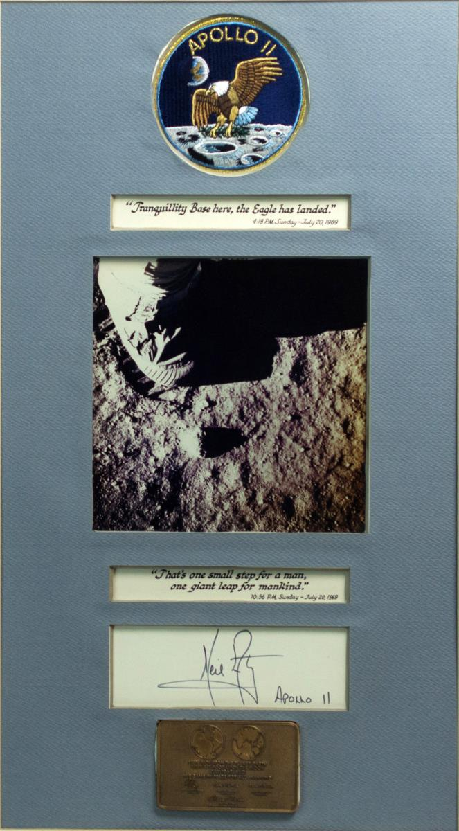 Signed Neil Armstrong Collage, Framed