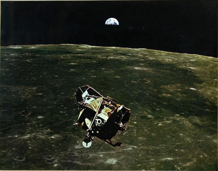Apollo 11 Eagle Lunar Orbit Signed Michael Collins