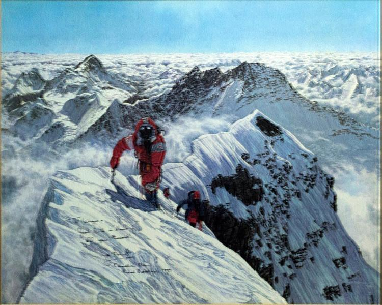 Mount Everest Print Signed by John Amatt