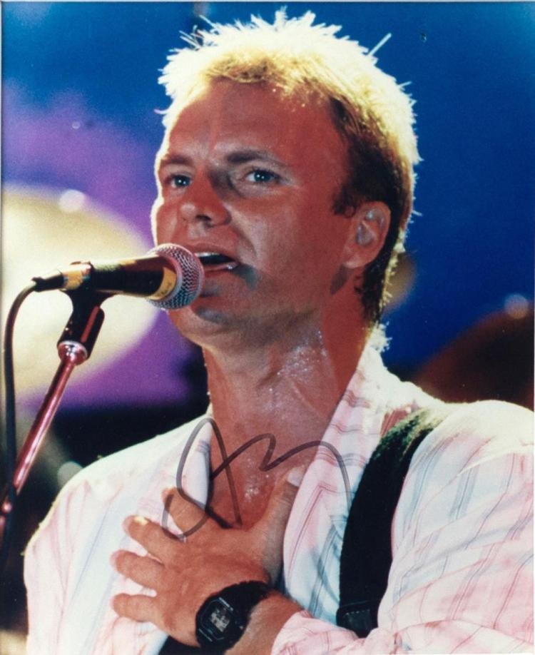 Autographed Photo of Sting, Framed