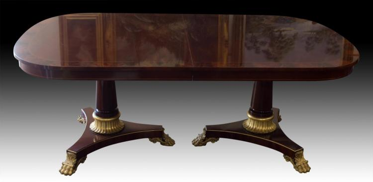 Kindel Neoclassic Dinning Table, Paw Feet, #76-019