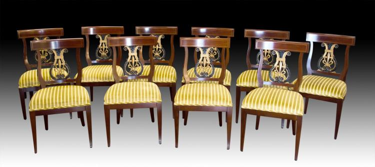 10 Kindel Neoclassic Dinning Chairs #76-086