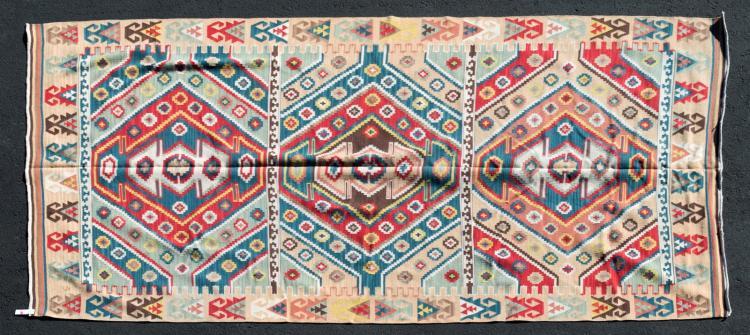 Kilim Dhurrie Flat Weave Rug Triple Diamond