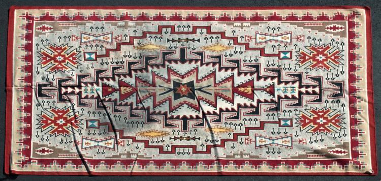 Native American, Klagetoh Style Dhurrie Rug