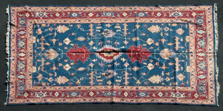 Vintage Handmade Turkish Rug, Floral Design