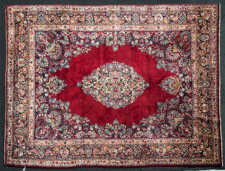 Vintage Persian Sarouk Rug