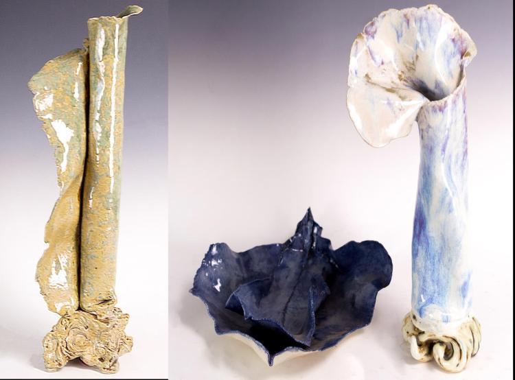 Jennifer Gale Alfred (1955-2016) 3Pcs. Pottery