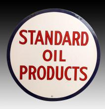 Vintage Standard Oil Co. 2 Sided Porcelain Sign