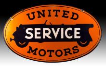 Vintage United Motors Service Porcelain Sign