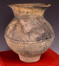 Burmese Incised Design Black Pottery c 200-400A.D.