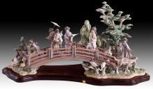 LLADRO Oriental Garden Porcelain Figurine Group