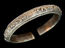 Japanese Silver Bangle Bracelet