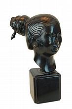 South Vietnamese Female Bronze Bust Sculpture
