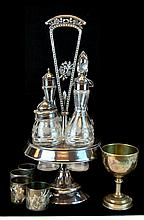 Antique Simpson Hall Miller Silver Plated Cruet Set Lot