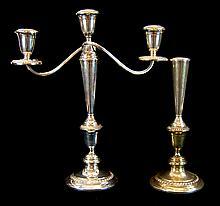 Alvin Sterling Silver Candelabra & Candlestick