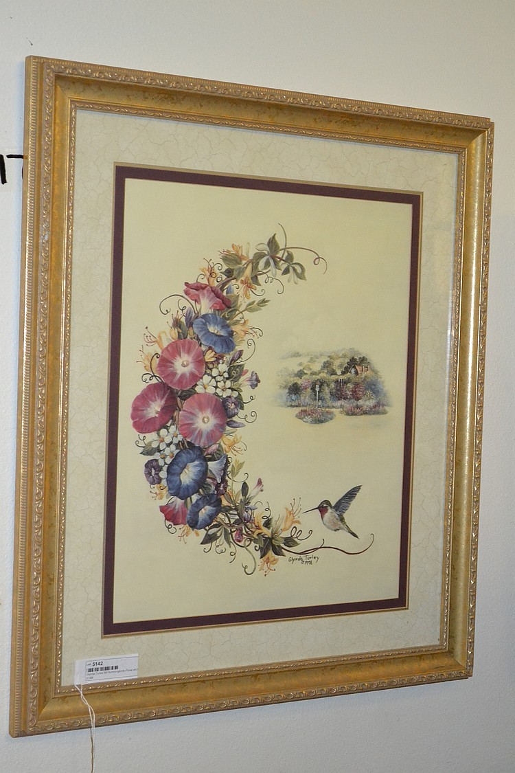 Glynda turley 98 hummingbirds floral art print for Glynda turley painting