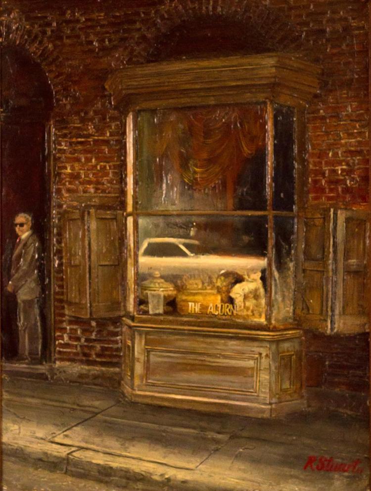 Robert Stuart (1937-) The Acorn, Street Scene