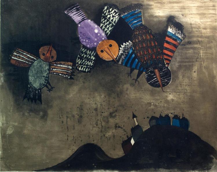 Graciela Rodo Boulanger (b.1935) Colored Etching