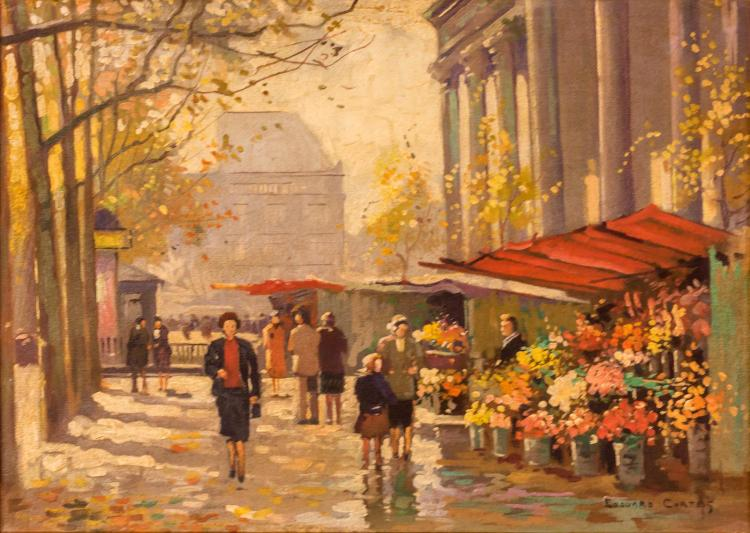 Edouard Leon Cortes (1882-1969) Street Scene